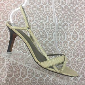 Ann Taylor Woman's Beige Snake Heels Size 7M S599